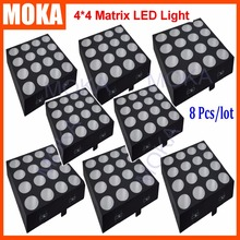 8PCS/LOT Color Mixing Disco Dj Effect Light 16x30W Matrix Led RGB 3IN1 4x4 Light Event Auto Master Slave Sound Active Control(China (Mainland))