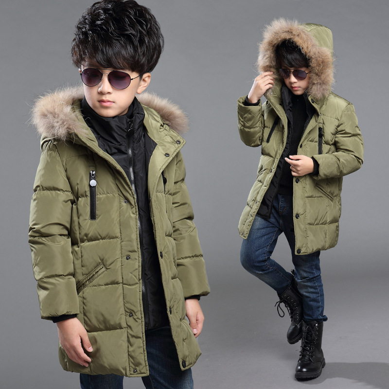 childrens jackets fashion 2015 boys winter jacket thick hooded parkas warm boys winter coat winter child outerwear   Y4040<br><br>Aliexpress