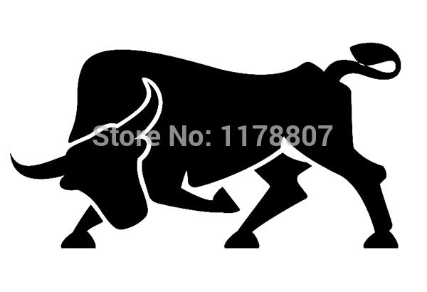 40 pcs/lot 9 Colors Spanish Bull Animal Die Cut Vinyl Decal For Car Rear Windshield Truck Bumper Auto Door Kayak Art Sticker(China (Mainland))