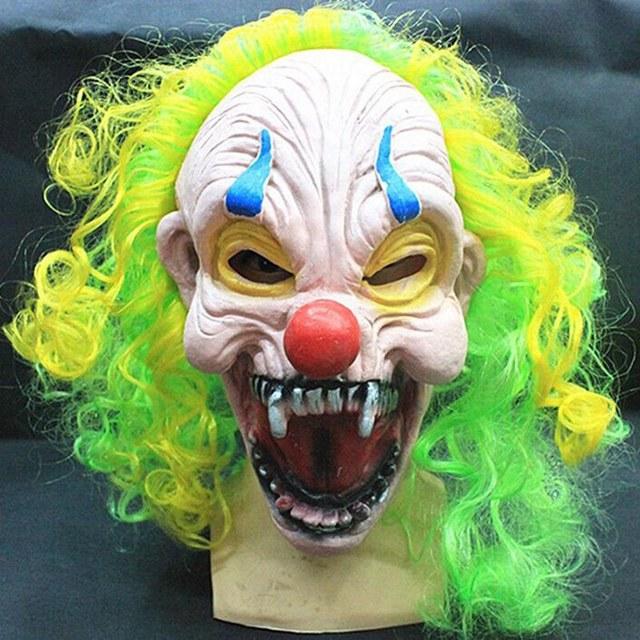 Scary Joker Clown Mask Wry Face Festival Halloween Masquerade Masks