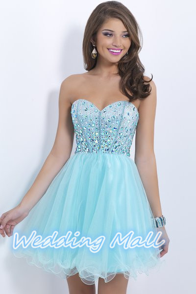 LIGHT BLUE HOMECOMING DRESSES - Omenas Benen