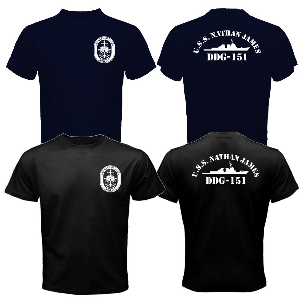 New The Last Ship USS Nathan James DDG-151 US Navy Seal TV Series T-shirt Mens 100% Cotton Tee Shirt S-XXXL(China (Mainland))