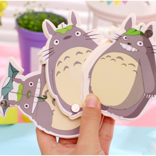 New Funny Japan Cartoon Totoro designs Notepad/Memo pad/Paper sticky note/sticker message post/retail<br><br>Aliexpress