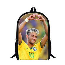 Cool Neymar backpacks for boys,fashion back pack lightweight for children,school bookbags for teenagers moachilas book bags(China (Mainland))