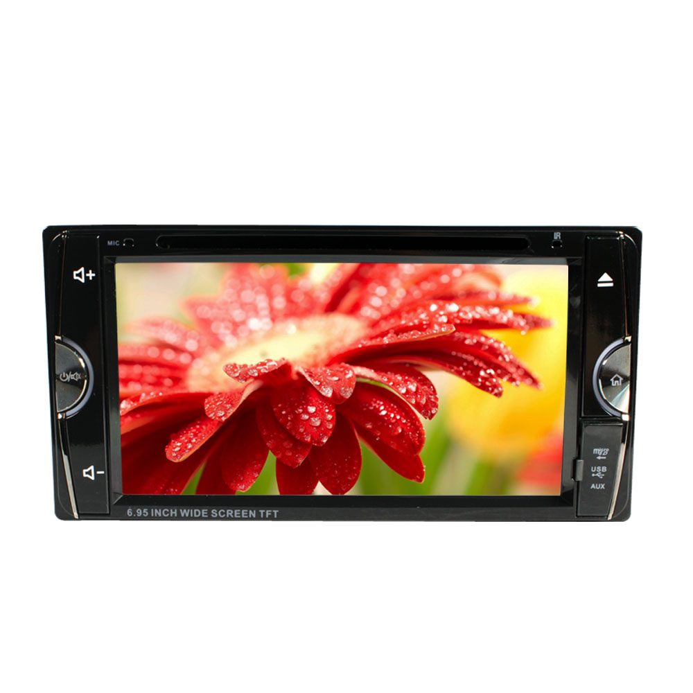 """6.95"""" Double Din Car Video Player 2 Din Car DVD LCD Screen Panel Car Audio Player Support FM/GPS/USB/AUX/iPod(China (Mainland))"""
