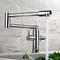 High Quality 100 Solid Brass Chrome Finish Extended Hot and Cold Kitchen Sink Mixer Tap Wall