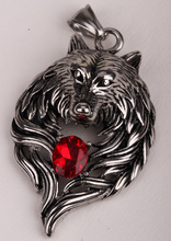 Wolf stainless steel necklace for men women 316L pendant W chain biker heavy jewelry animal charm wholesale dropshipping GN41(China (Mainland))