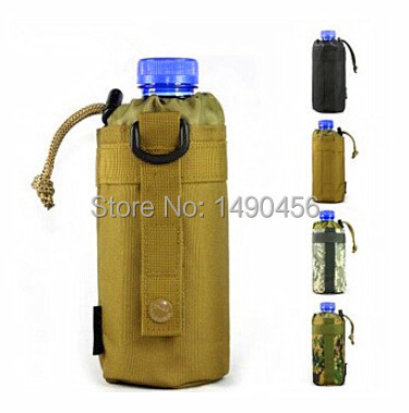 Outdoor Sport Water Bottle Bag Military Camouflage Kettle Set MOLLE System Durable Travel Hiking Camping Equipment Tactical Bags(China (Mainland))
