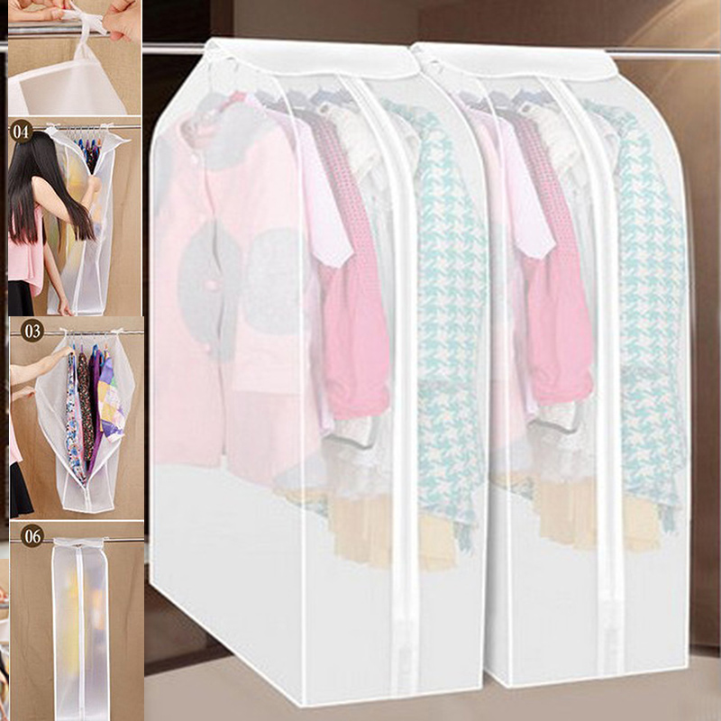 Hot 3D Garment Suit Coat Dust Cover Protector Wardrobe Storage Bag Wardrobe Storage Bag 58*30*88CM(China (Mainland))