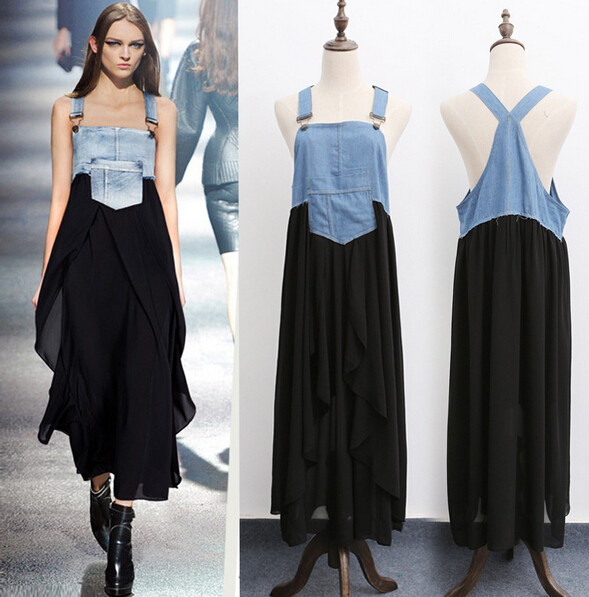 2015 New fashion cowboy dress star dress europe and the united states style XXL XXXL XXXXL XXXXXL free shipping(China (Mainland))