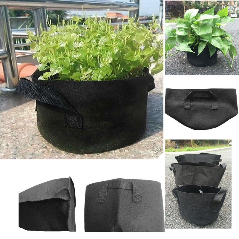 Special offer 1 PCS free shipping Black Fabric Pots Plant Vegetable Pouch Round Aeration Pot Container Grow Bag(China (Mainland))