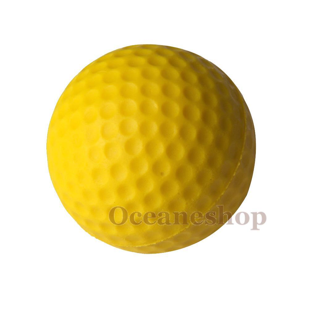 OCEA 10PCS Golf Indoor Beginners Practicing Balls Soft Training Ball PU Yellow(China (Mainland))