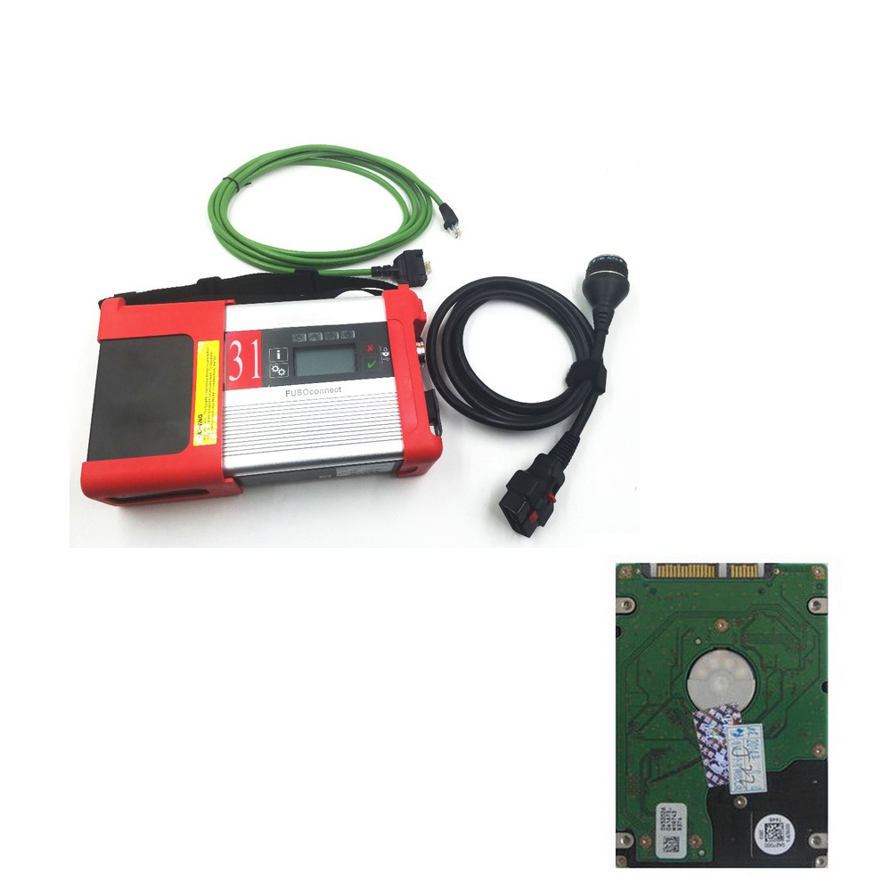 Top-Rated Mitsubishi Fuso C5 Diagnostic Kit Mitsubishi Fuso SD Connect Compact 5 2015.12 without WIFI with HDD DHL free shipping(China (Mainland))