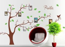 wall sticker sofas move the background wall of three generations photo frame tree palm leaf decorative stickers stickers