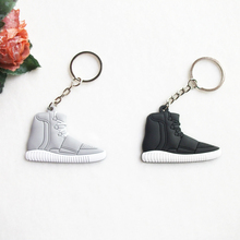 Cute Mini Silicone Yeezy Boost 750 Key Chain Woman Kids Key Rings Gifts Key Holder Jordan Shoes Keychain(China (Mainland))