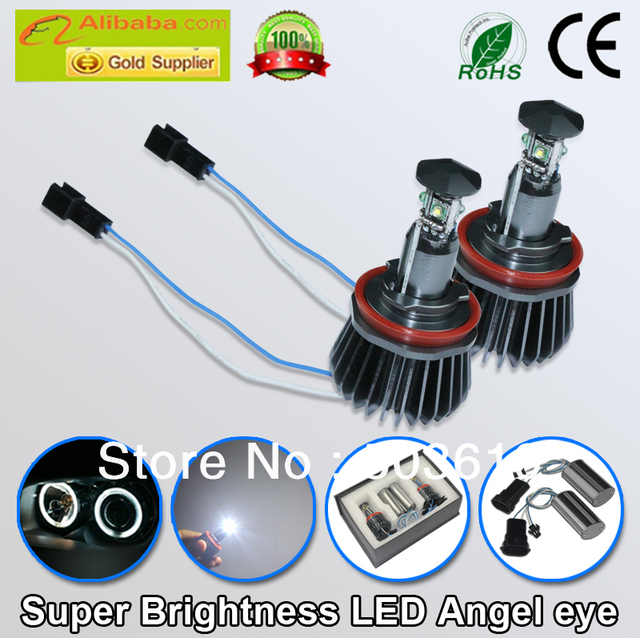Free shipping super brightness CANBUS Error free H8 20W led angel eye E39,E53,E60,E61,E63,E64,E65,E83,E87 for BMW