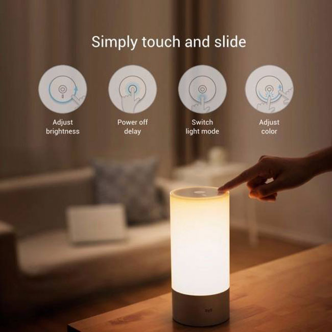 Фотография Original Xiaomi Yeelight Bedside Lamp RGB Wireless Touch Control Night Light for Cellphone