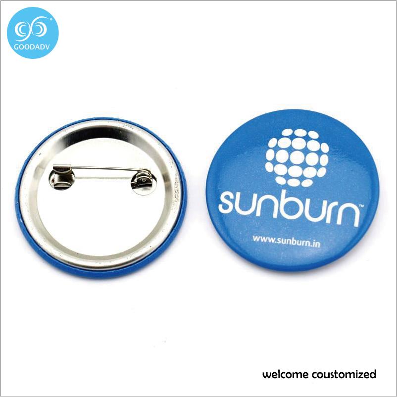2016 Factory direct sale custom logo metal pin badge color printing round shape badge free shipping tin badge(China (Mainland))