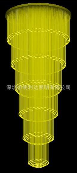 Fasion optic fiber Supply LED fiber optic lights fiber optic chandelier crystal chandelier engineering Multilayer Fabric hotel c(China (Mainland))