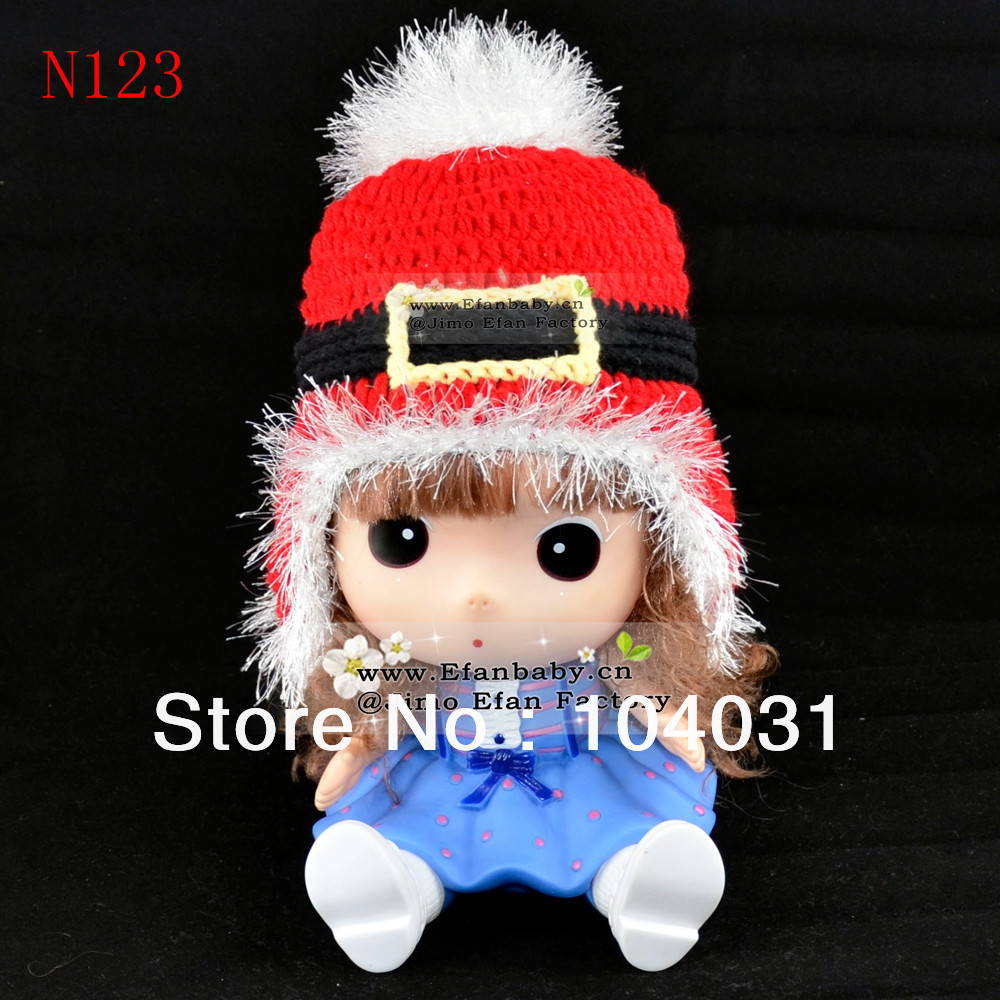 Free shipping hot sell crochet baby girl animal winter hat animal design beanie earflap cap animal knit handmade hat photo props(China (Mainland))