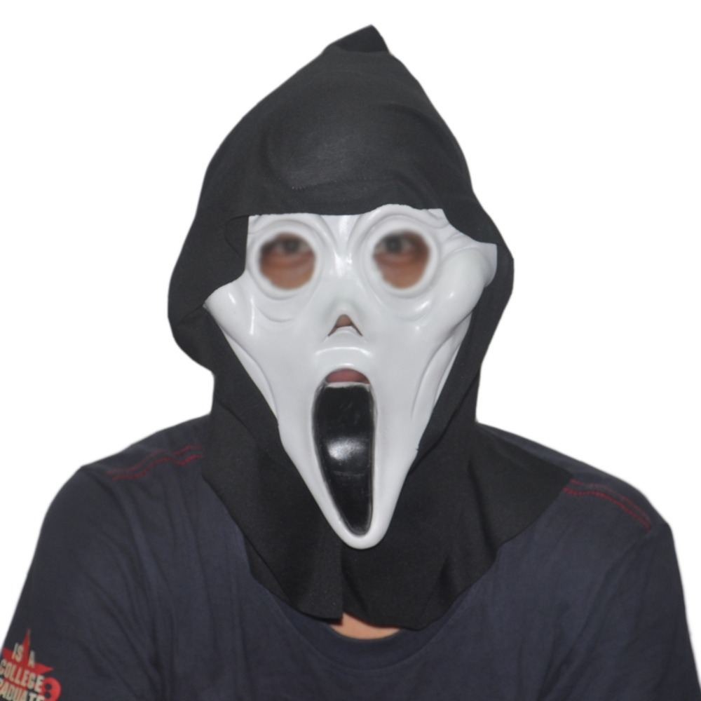 Halloween Costume Prop Adult Horror Ghost Scream Latex Mask Scary ...