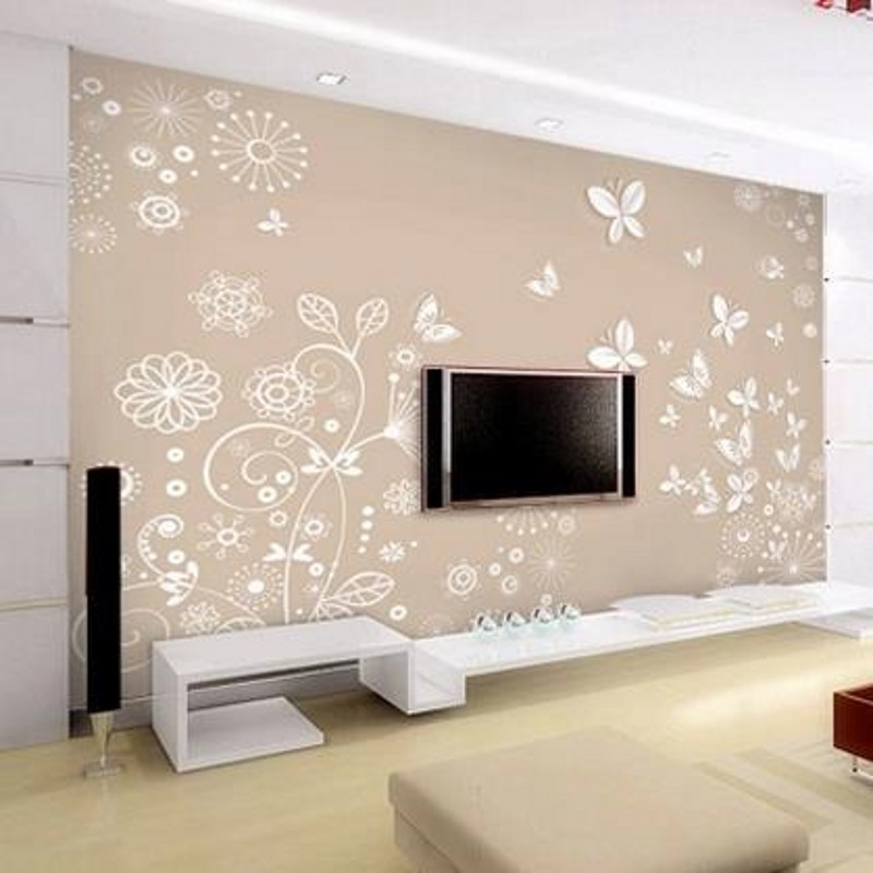 Buy custom photo floor wallpaper 3 d stereo sitting room for Adhesive decoration