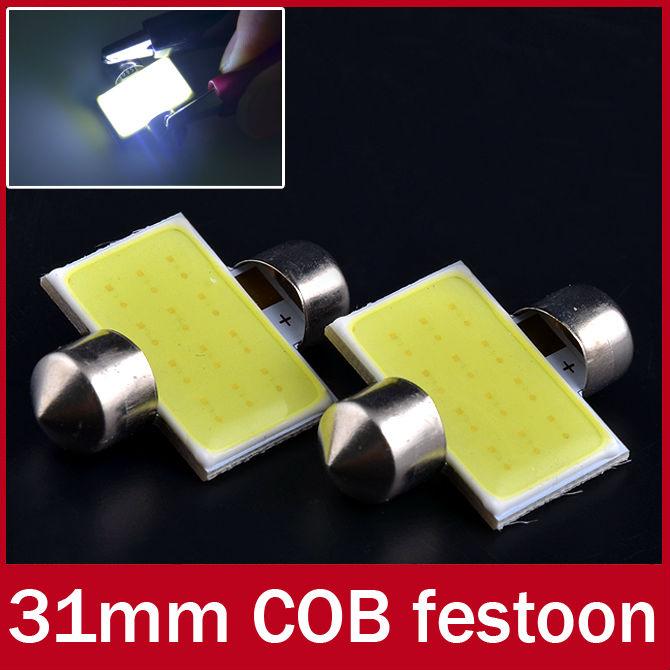 10x Festoon 31mm High Power White COB LED Dome Lamp DE3021 DE3022 DE3175 C5W(China (Mainland))
