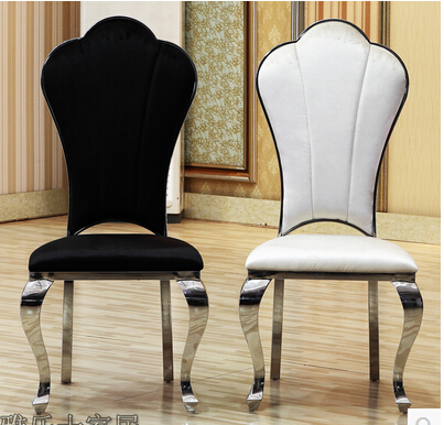 Ou eat desk and chair. Stainless steel. Ikea chair stool flannelette black and white restaurant(China (Mainland))