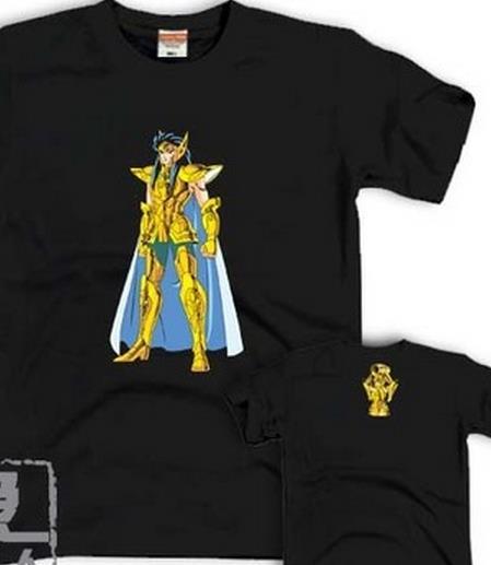 Aquarius SOLDIER DREAM; OP new Saint Seiya; Gold Saint 12 constellations Athena Men and women T-shirt lovers(China (Mainland))