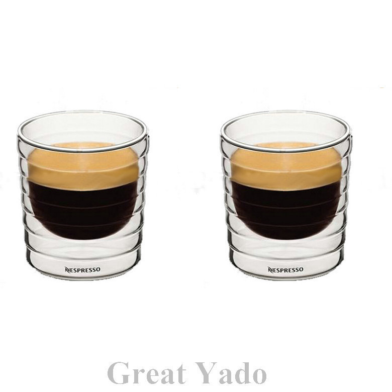 ensemble de 2 pcs double paroi nestl nespresso verre tasses caf tasses 150 ml expresso citiz. Black Bedroom Furniture Sets. Home Design Ideas