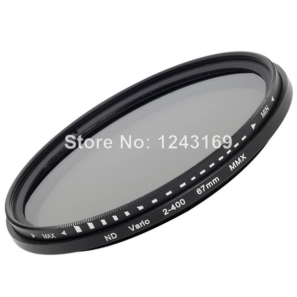 67mm ND Filter Lens Fader Adjustable Variable Neutral Density ND2 to ND400 for Canon for Nikon for Pentax LF26-SZ(China (Mainland))