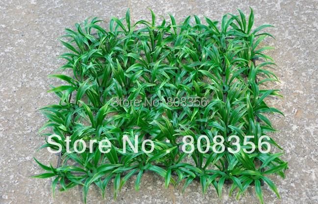 8Pcs 25*25cm Plastics Grass Green Turf Spring Greenery Fake Square Shape Small Meadow for Wedding Festival Decorations(China (Mainland))