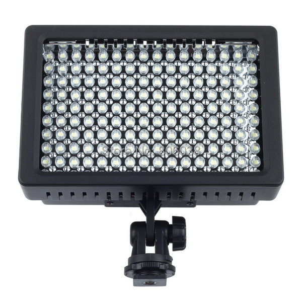 High Power Lightdow LD 160 160 LED Video Light Camera Camcorder Lamp with Three Filters 5400K