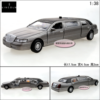 1:38 toy model Lincoln lengthen ash alloy car model plain four door free air mail
