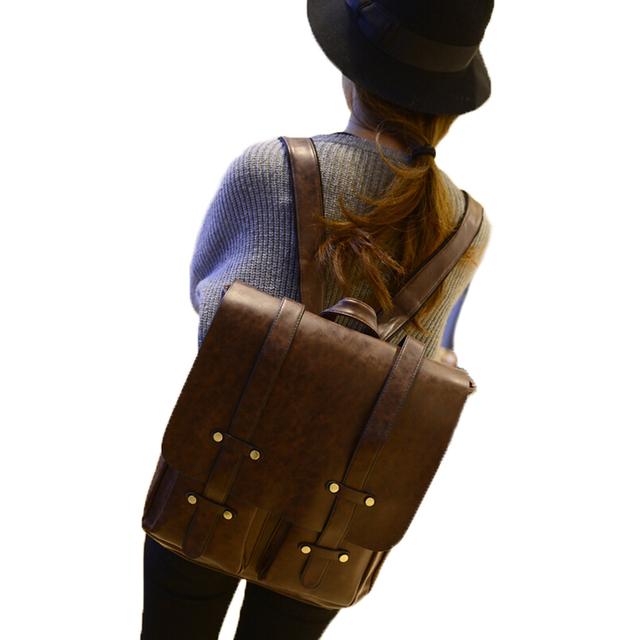 2016 известный новое рюкзак женщины мода винтажный стиль Backapck женщин кожаные ...
