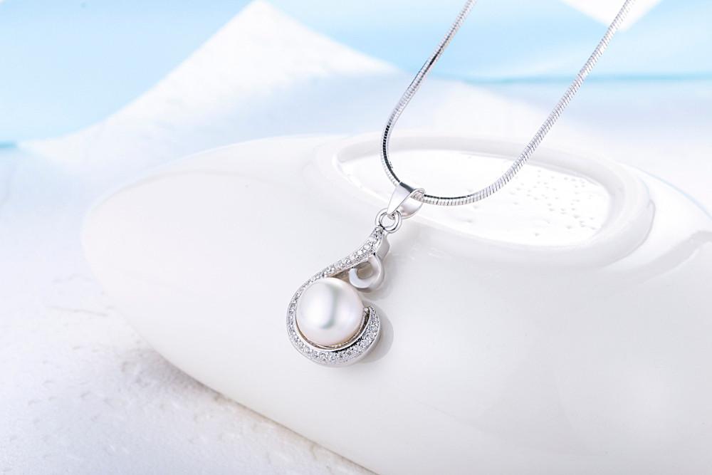 Starland Горячая Стерлингового Серебра 925 Женщин Ювелирные Изделия Перлы Устанавливает Water Drop Форма Ожерелье Кулон & Британский пряжки Серьги, Кольцо подарок