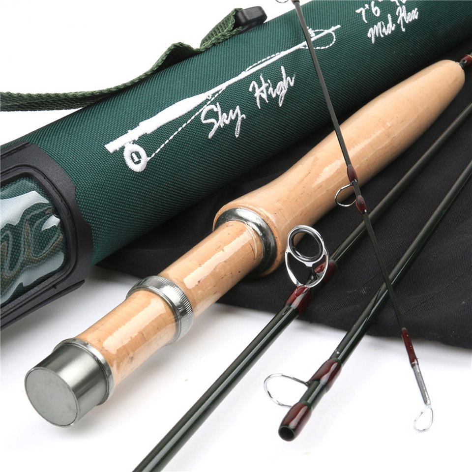 Im12 40 46t carbon skyhigh 6023 fly fishing rod with for Shipping tubes for fishing rods