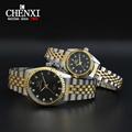 Men watches Relogio masculino Fashion Quartz Watch CHENXI Women Clock Watches Brand Full Steel Watch Reloj
