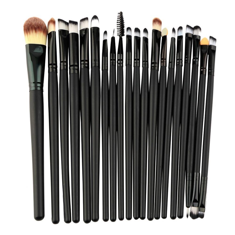 20 pcs/set Makeup Brushes Set Powder Foundation Eyeshadow Eyeliner Lip Brush Cosmetic Beauty Tools Kit Make Brushes