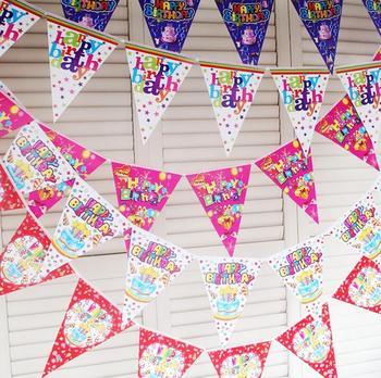 2.5 м мультфильм письмо цветок вымпелы бумаги флаг рождения ну вечеринку украшение баннер овсянка для детей детей