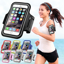 Buy Waterproof PU Sports Running Arm Band Phone Case Holder Pouch iPhone 7 6 6S Plus SE 5 5C 5S 4 4S Workout Gym Cover Bag for $2.78 in AliExpress store