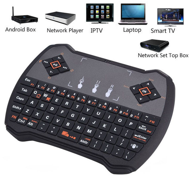 Spanish Hebrew English Russian Version Keyboard Rii R6 Mini Wireless Air Mouse Remote Control Touchpad for TV BOX Laptop Mini PC<br><br>Aliexpress