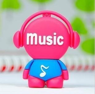 Beautiful Music Maniac Cartoon 8GB 16GB 32GB 64GB USB 3.0 Super Speed Flash Memory Stick Drive Christmas Gift Free Ship(China (Mainland))