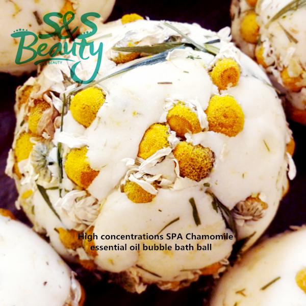 Bath bombs High concentrations Chamomile essential oil bubble bath ball salt SPA beauty body skin care romantic handmade S439(China (Mainland))