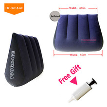 Toughage Inflatable Sex Pillow Positions Adult Sex Sofa Bed Cushion Triangle Wedge Pad Sofa Toys Sex furniture Hold Pillow(China (Mainland))