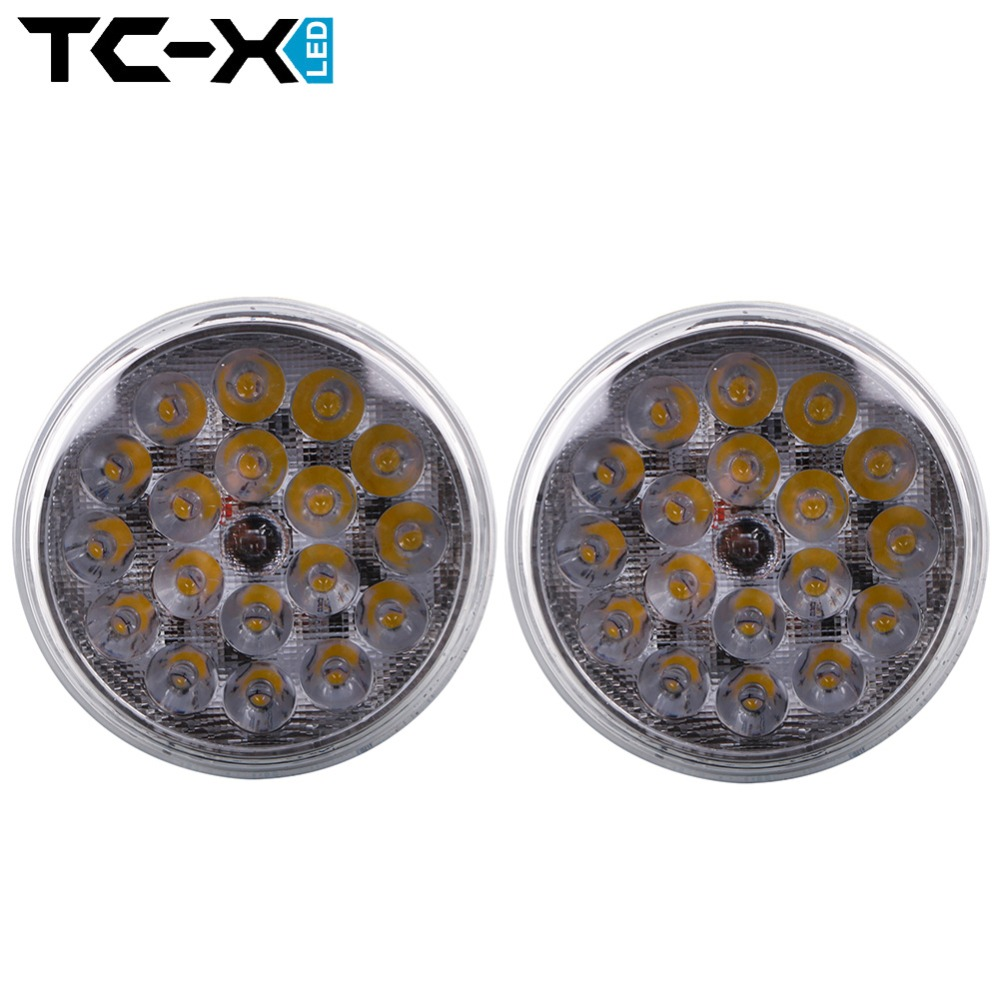 TC-X 2 Pieces Par36 LED Work Light Spot LED Car lights PAR 36 12V 24V for Off Road 4X4 Tractor Truck ATV Trailers Wholesale(China (Mainland))