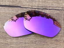 Plasma Purple Mirror Polarized Replacement Lenses For Straight Jacket 2007 Sunglasses Frame 100% UVA & UVB Protection