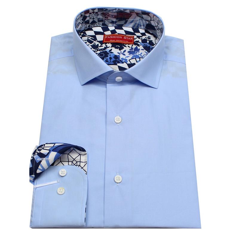 Contrast color dress shirts
