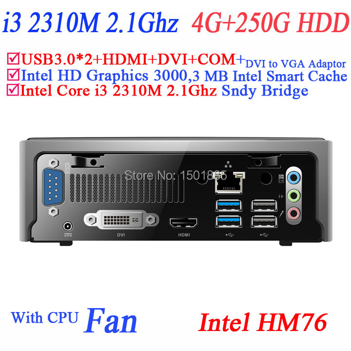 OEM cheap mini computer with Intel Core i3 2310M 2.1Ghz 4G RAM 250G HDD,mini pc windows 8 for office(China (Mainland))