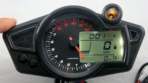 Latest LCD Digital Odometer Speedometer Tachometer Motorcycle 12000RPM(China (Mainland))